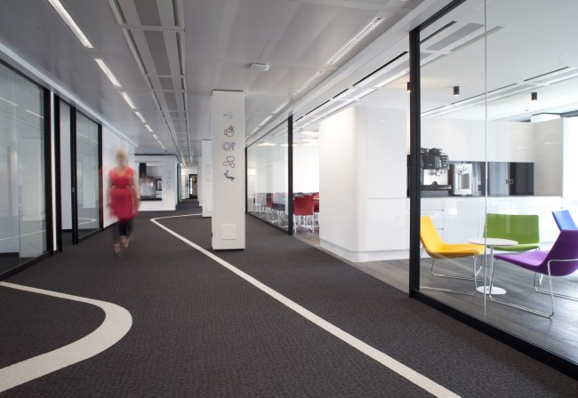 Desso carpet at Euler Hermes